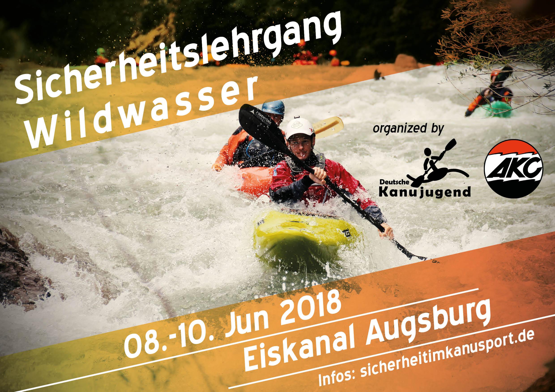 Plakat - Sicherheitslehrgang Wildwasser Augsburg 2018