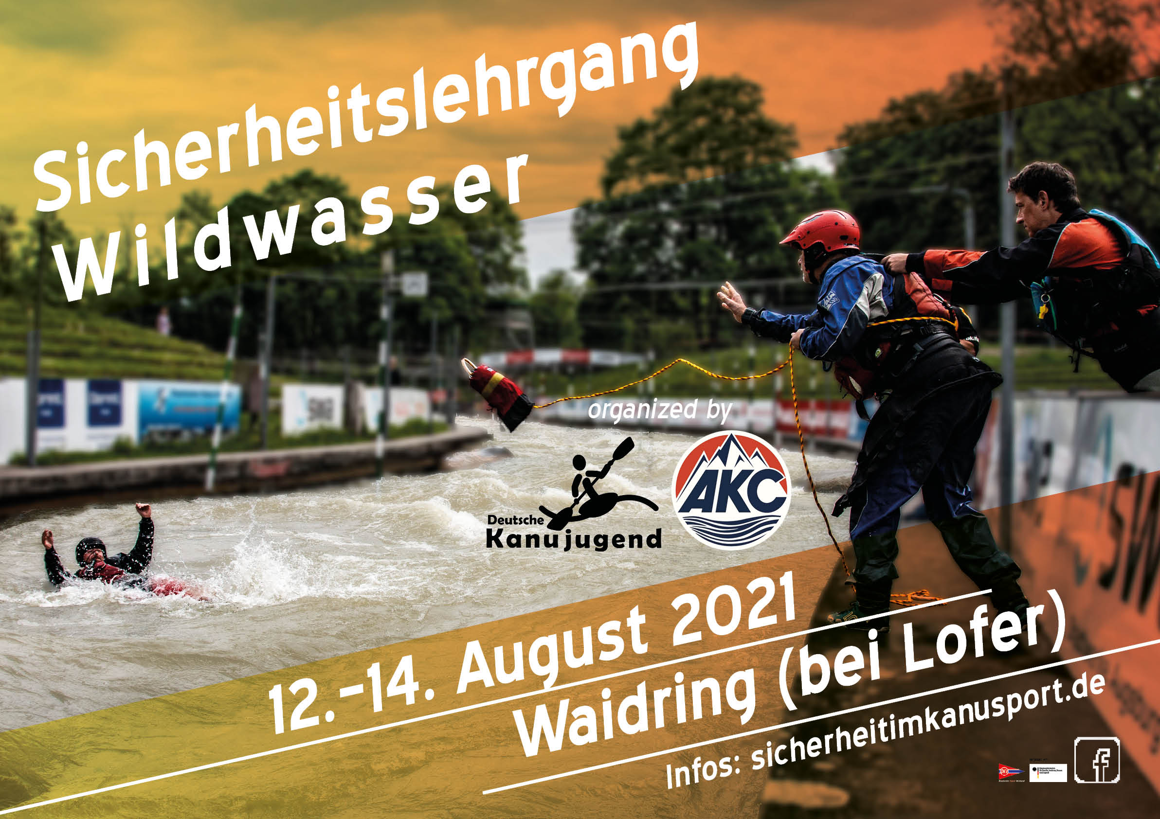 Plakat - Sicherheitslehrgang Wildwasser Waidring (AUT) 2021